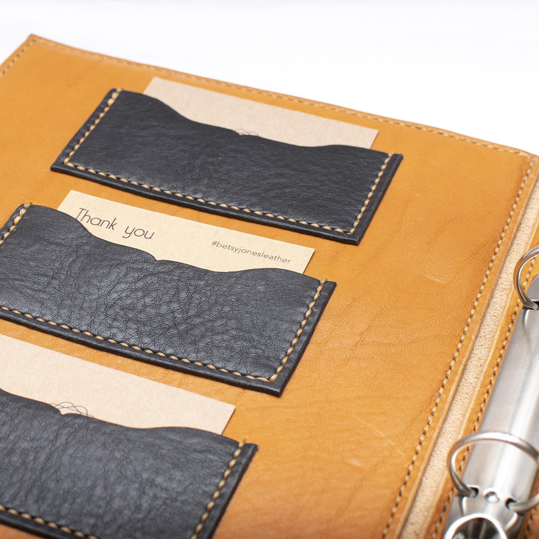 inside of leather binder