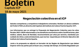 Boletín: Negociación colectiva en el ICP
