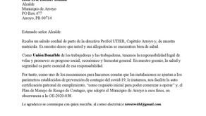 Carta al alcalde de Arroyo