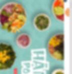 Strona Wix Hanai Poke z widokiem misek Poke z lotu ptaka.