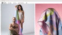 Strona internetowa Wix eCommerce sprzedająca jedwabne szale - na zdjęciu kobieta z klęczącym przed nią mężczyzną.
