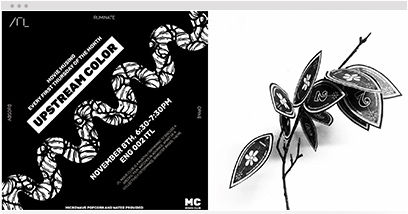 Portfolio of black and white art, illustrations and graphic designs built on Wix