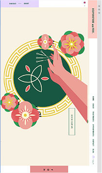 Acupuncture Wix website showing an illustrated image of a plate with flowers and needles