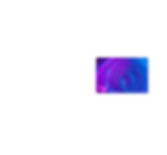 Okrągłe efekty świetlne w odcieniach fioletu i błękitu.