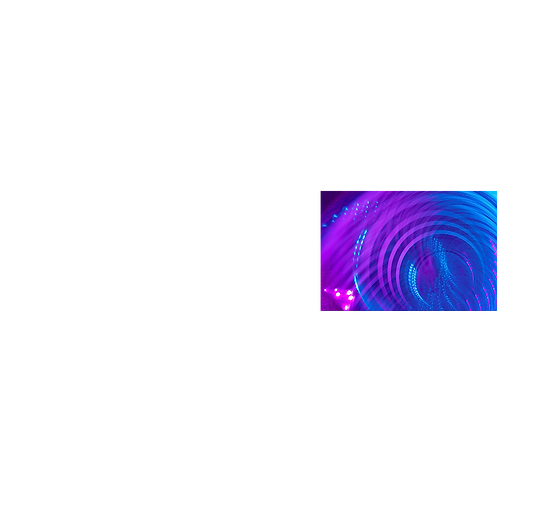 Circular effects from lighting in purple and blue hues