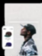 Sklep internetowy z czapkami przedstawiający profil boczny mężczyzny w czapce oraz sklep z kapeluszami prezentowany w wersji mobilnej.