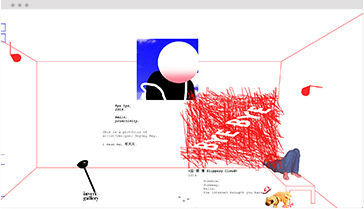 Wix Portfolio of artist and designer presenting different designs in a unique layout