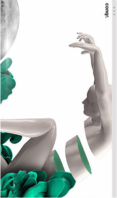 A Wix website of an agency showing porcelain hands bending over