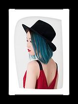 Una imagen recortada del perfil de una mujer con estilo.