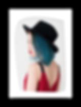 Przycięte zdjęcie profilu bocznego stylowej kobiety.