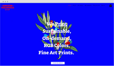 An online store built on Wix, selling sustainable, on-demand and fine art prints