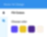 Panel dostosowywania kolorów z funkcjami grafiki wektorowej.
