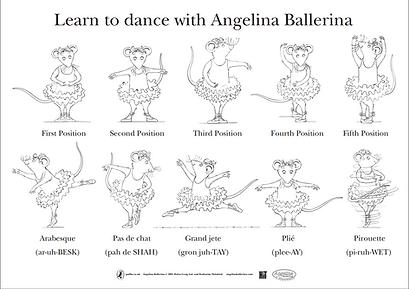 Angelina Ballerina Ballet Positions