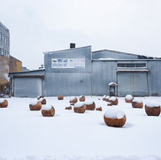 """""""Bosco Sodi: Perfect Bodies"""", an exhibition presented by Pioneer Works, Perfect Bodies Collision, Brooklyn, USA, 2020"""