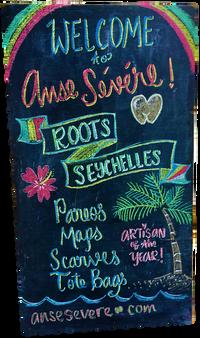 Roots Seychelles Chalkboard Art