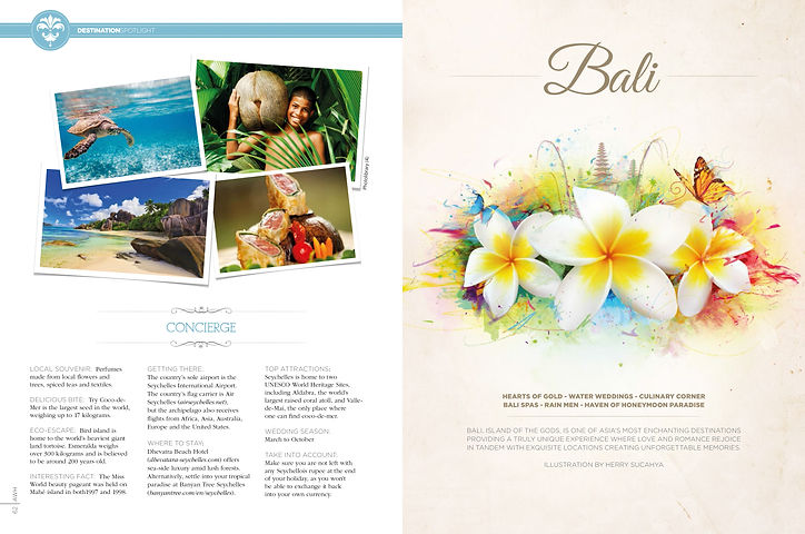 Seychelles map featured in Asia Weddings & Honeymoons
