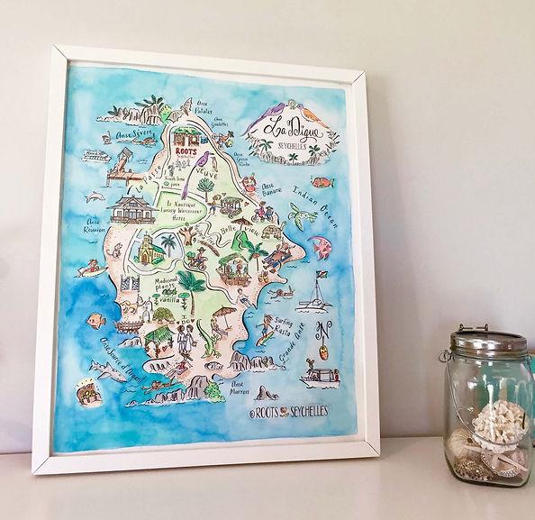 Seychelles Maps at Le Nautique, La Digue