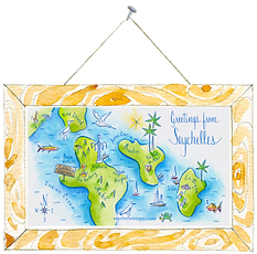 Map of the islands of Seychelles by Seychells Maps