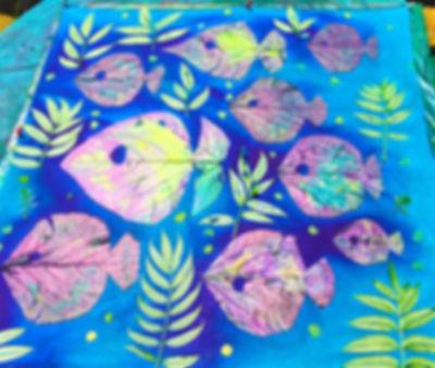 Handprinted bandana