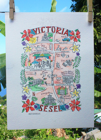 Victoria map by Roots Seychelles