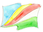 Our watercolor flag of Seychelles
