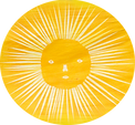 Hand printed sun by Roots Seychelles