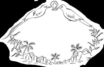 Male and female veuve paradise flycatchers