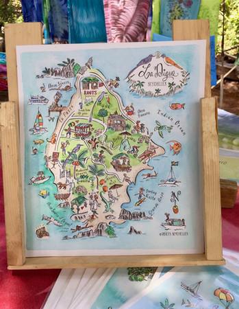 La Digue map by Roots Seychelles