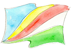 The flag of Seychelles by Roots Seychelles