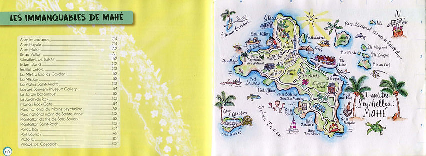 Mahe Seychelles map featured in Insolites Seychelles