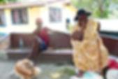 Kreol couple in La Batie, Seychelles
