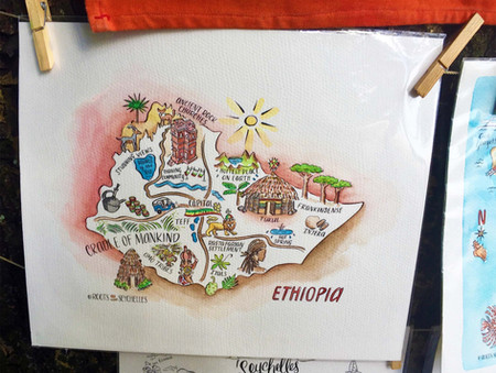 Ethiopia map by Roots Seychelles