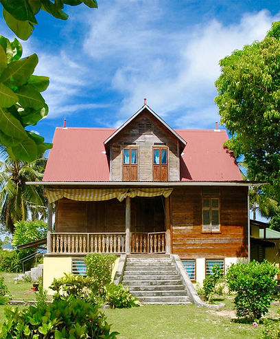 This is a little Kreol house on La Digue