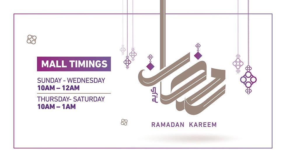 Ramadan-greeting-mall timing-collaterals