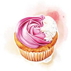 杯子蛋糕-紅桑子