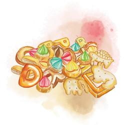 獸形餅、ABC餅及花占餅