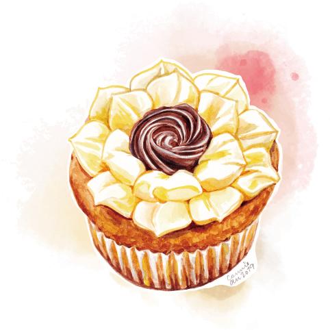 杯子蛋糕-芒果