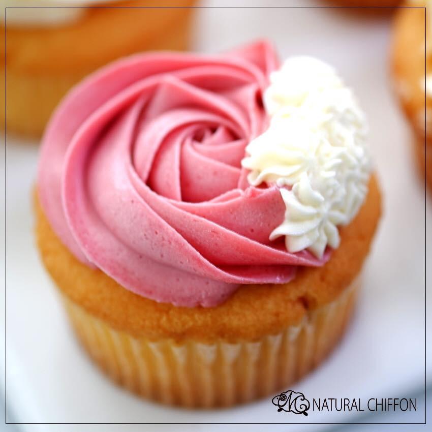 紅桑子杯子蛋糕