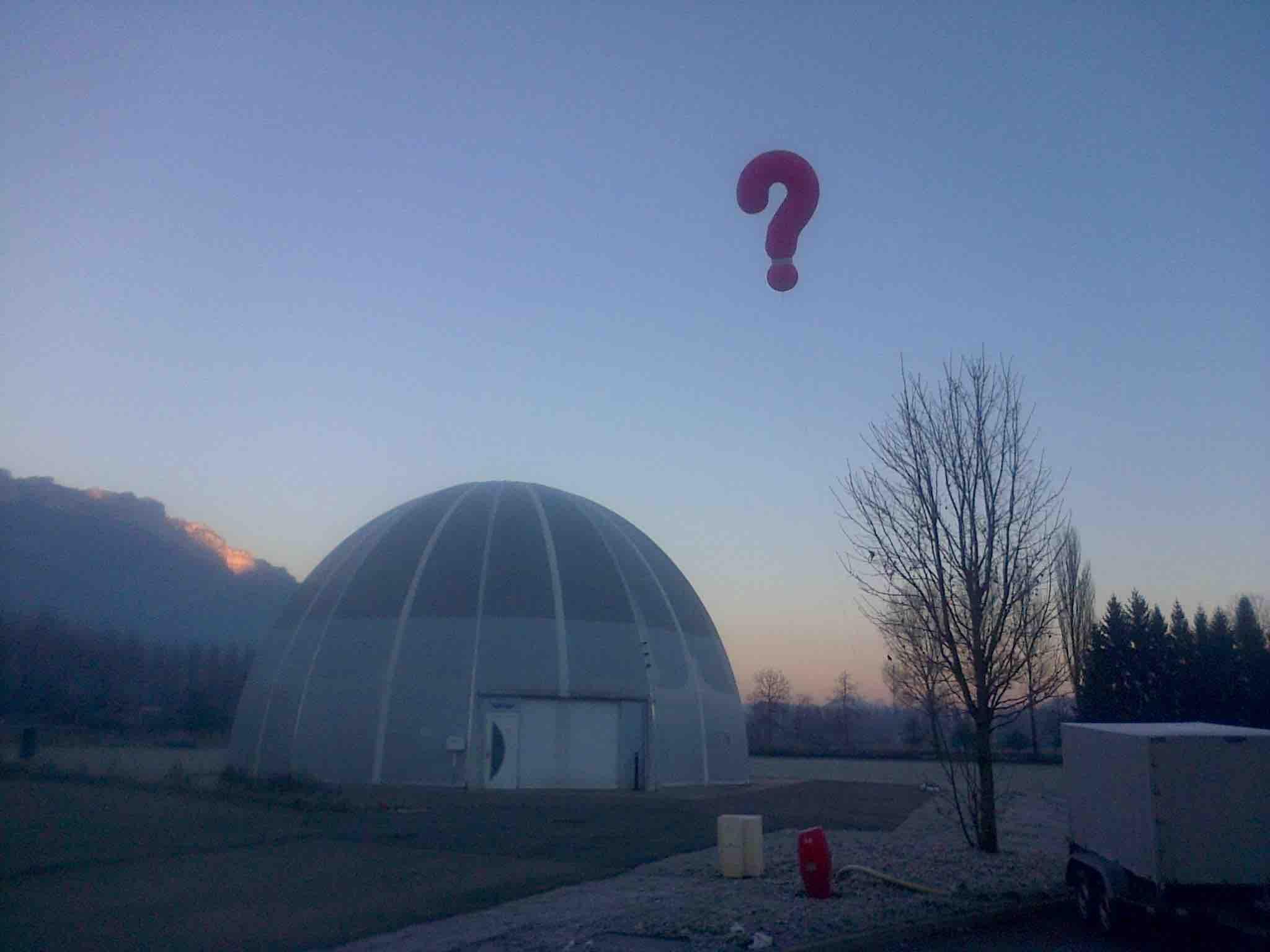 gonflé à l'hélium