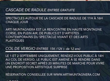 Arti Muntagnera, la Transhumance des Arts 2018, édition du Niolu.