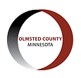 logo for Olmsted county a circle with Olmsted county Minnesota in the middle of it