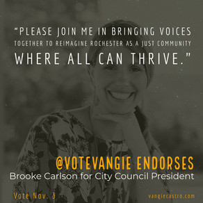 @votevangie Endorses Brooke Carleson for Rochester City Council President