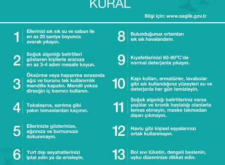 COROVİD-19 // CORONAVİRÜS ALACAĞINIZ ÖNLEMLERDEN DAHA GÜÇLÜ DEĞİLDİR.