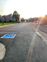 Fresh asphalt overlay