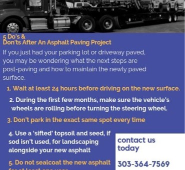 5 Do's And Don'ts After An Asphalt Paving Project