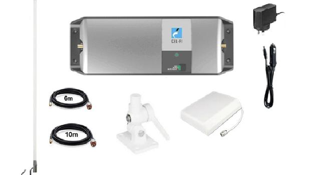 CEL-FI GO Telstra 3G 4G Signal Repeater Caravan & Marine Pack w/ Fold Down Brack