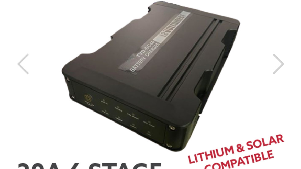 12 Volt Direct 20A DC to DC Battery Charger MPPT LiFePO4 Lithium Compatible Sola