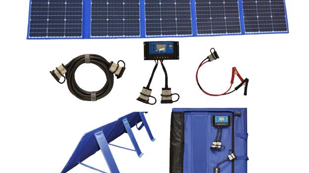200W Solar Blanket Flexible Folding Panel w/ Legs & Armour Cell
