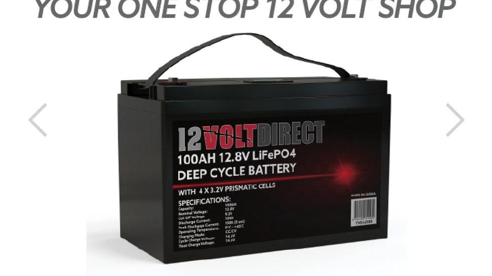 100Ah 12.8V Lithium LiFePO4 Deep Cycle Battery