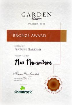 Ireland Garden Heaven Bronze Award certi